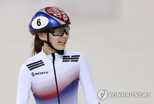 资料图片:2月6日,在江陵冰上运动场,崔珉祯现身赛前适应性训练。(韩联社)