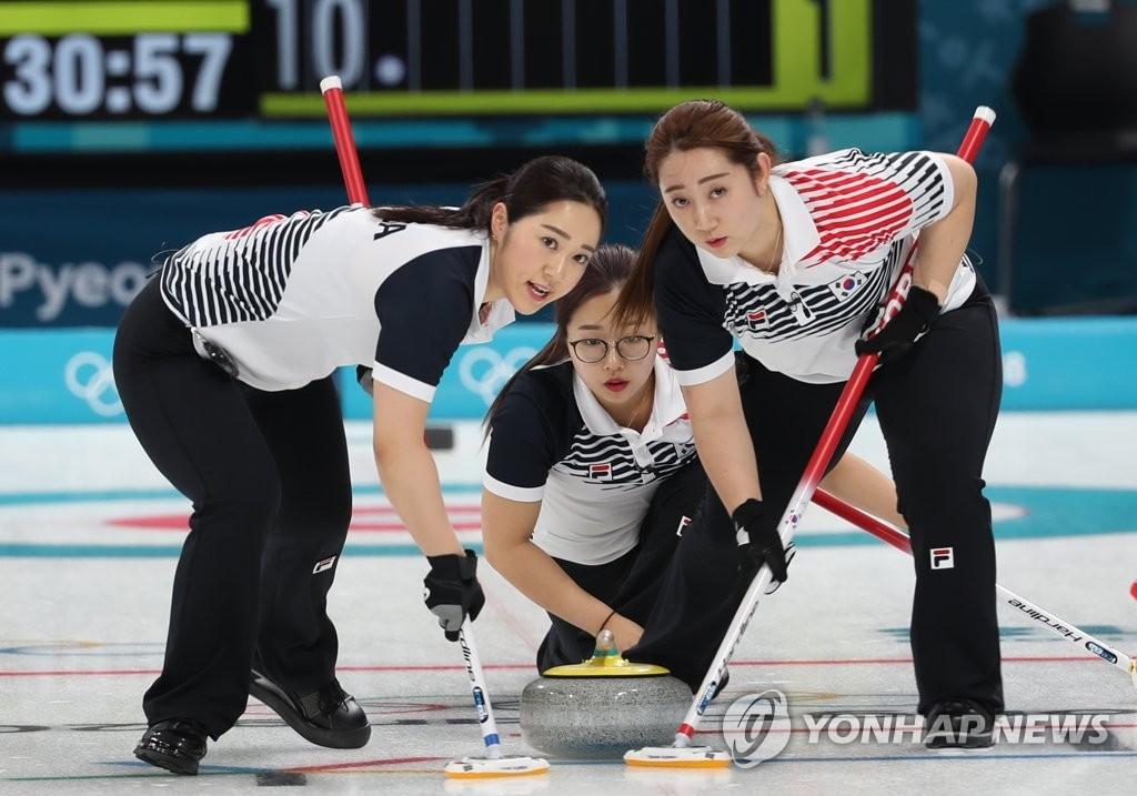 韩国队员在比赛中。(韩联社)
