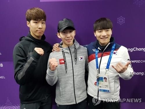 资料图片:左起依次为黄大宪、林孝俊、徐怡拉。(韩联社)