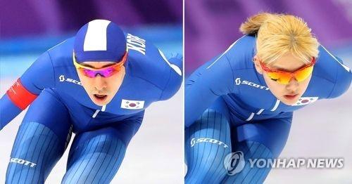 资料图片:李承勋和金宝凛(韩联社)