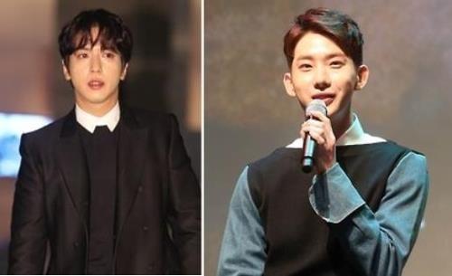 资料图片:郑容和(左)和赵权(韩联社)