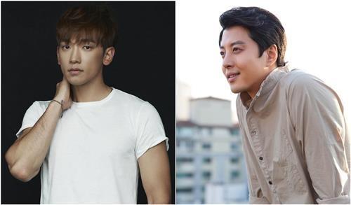 演员RAIN(左)和李东健(韩联社/各经纪公司提供)