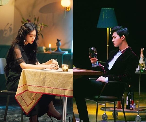歌手张才人(左)和EXO队长SUHO(张才人脸谱截图)