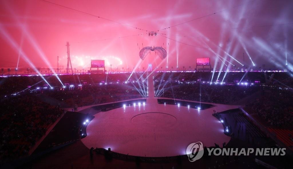 3月9日,在平昌奥林匹克体育场, 2018平昌冬残奥会拉开帷幕。(韩联社)