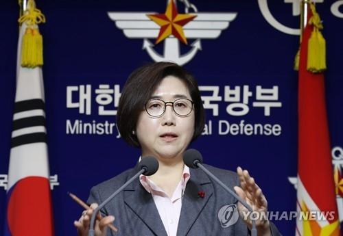 资料图片:韩国国防部发言人崔贤洙(韩联社)