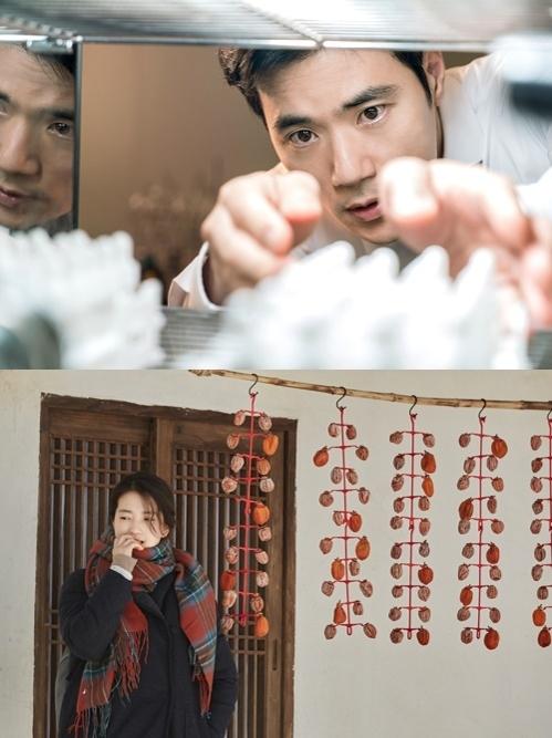 上图为韩片《消失的夜晚》剧照,下图为《小森林》剧照。(韩联社/各发行商提供)