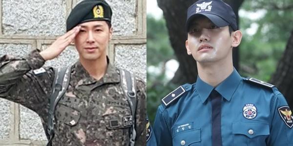 男团东方神起成员瑜卤允浩(左)和最强昌珉(韩联社)