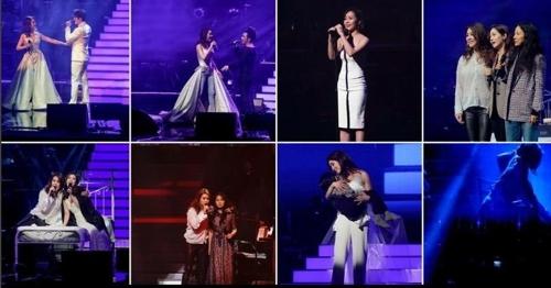 李孝利、成宥利为玉珠铉演唱会站台。
