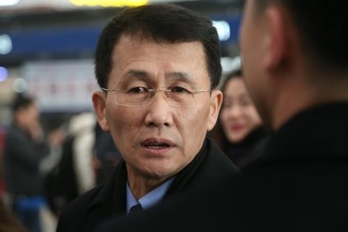 资料图片:朝鲜外务省北美局副局长崔强一(韩联社)