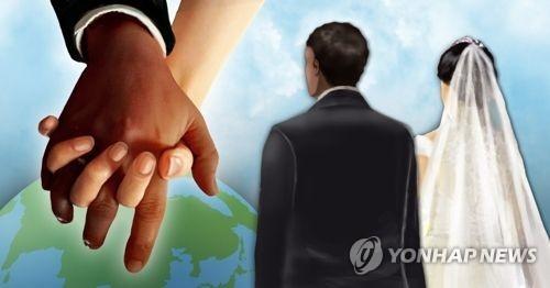 统计:韩国2017年涉外婚姻占结婚总数7.9% - 1