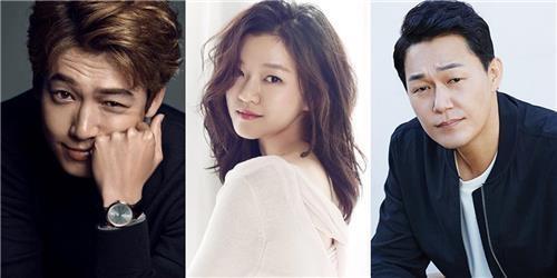 左起为演员郑敬淏、高雅星、朴成雄。(韩联社/Management Ohreum、C-JeS娱乐、Artist Company提供)