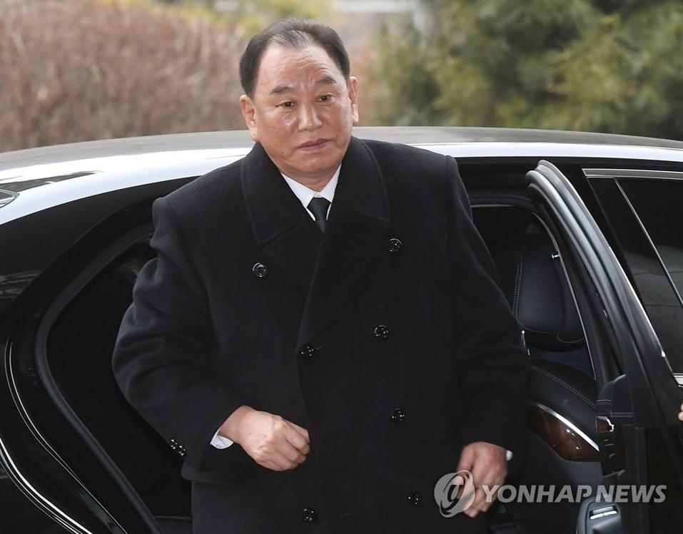 资料图片:朝鲜劳动党中央副委员长、统一战线部部长金英哲(韩联社/联合采访团)