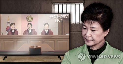 朴槿惠将缺席审判。(韩联社)