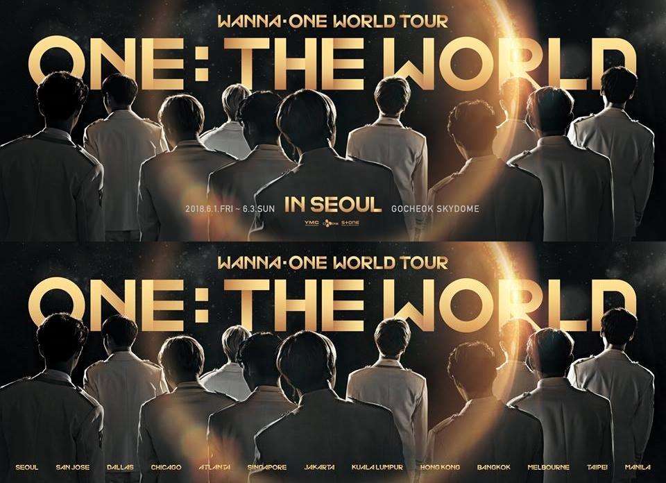 Wanna One首尔演唱会和全球巡回演唱会预告照(官方脸谱)