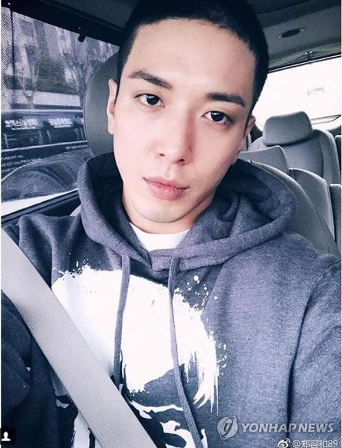 资料图片:男团CNBLUE成员郑容和(韩联社/郑容和官方微博)