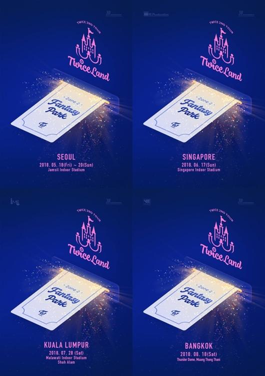 TWICE演唱会海报(官方脸谱)