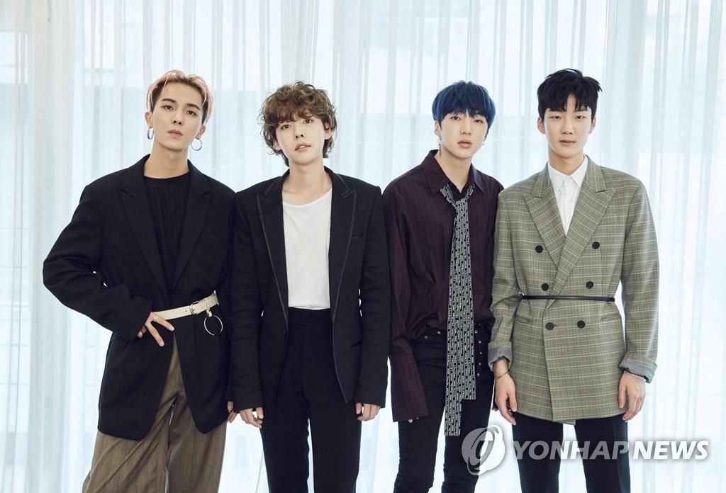 资料图片:韩国男团WINNER(韩联社/YG娱乐提供)