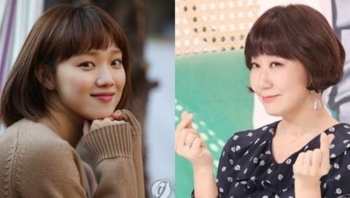 演员李圣经(左)和罗美兰(韩联社)