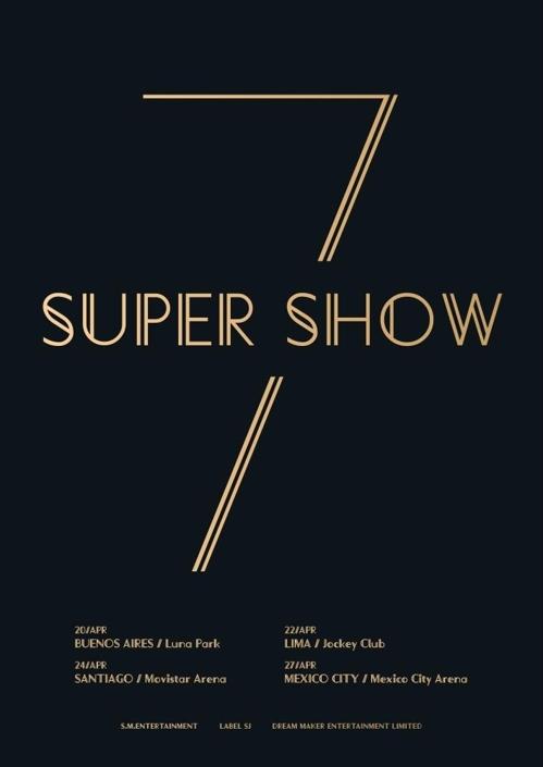 男团Super Junior中南美演唱会海报(官方脸谱)