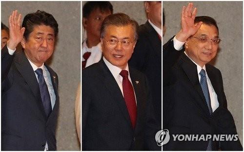 韩青瓦台:韩中日领导人将讨论合作落实《板门店宣言》