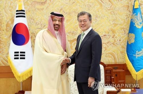 文在寅接见沙特能源部长