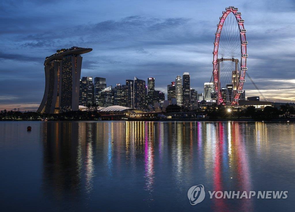 新加坡夜景(韩联社)