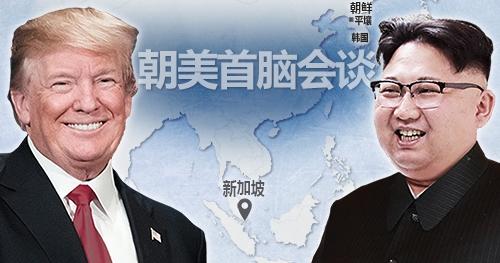 朝美领导人狮城核谈判举世瞩目