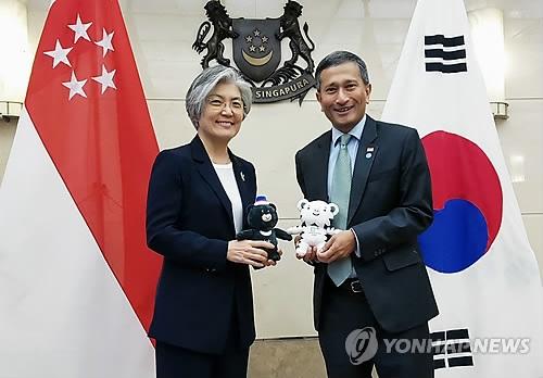 韩新加坡外长就金特会通电话