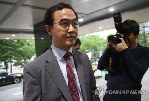 韩统一部长:将对朝就高级别会谈被推延表明立场