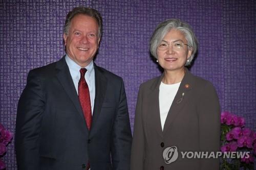 韩外长与世粮署商讨人道援朝