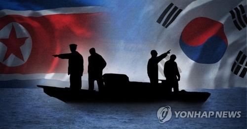 两名朝鲜人乘船南下归顺韩国