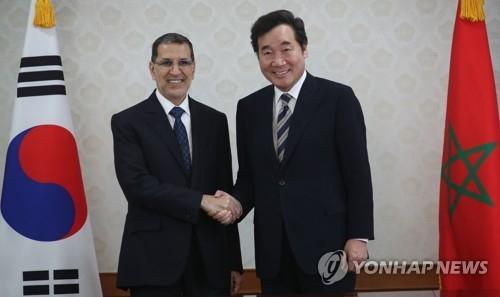 韩总理与摩洛哥首相举行会谈