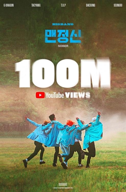 BIGBANG《SOBER》MV优兔播放量破亿