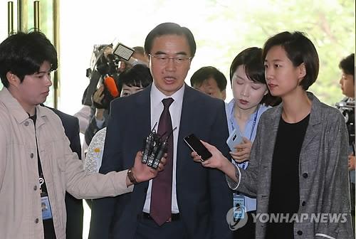 韩统一部长官:将继续努力落实《板门店宣言》
