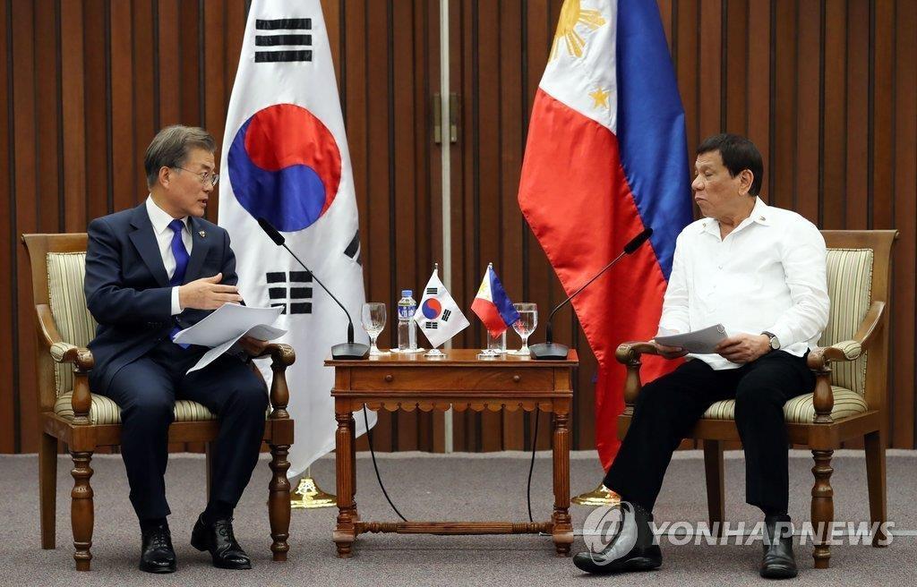 菲律宾总统杜特尔特下月访韩将会文在寅