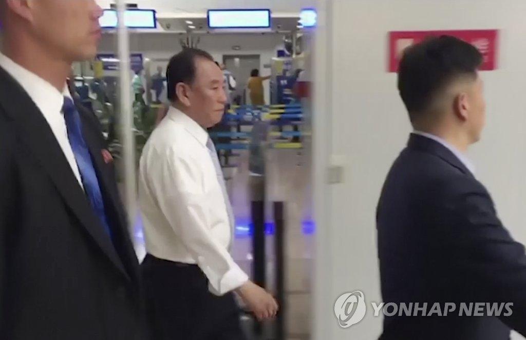 资料图片:朝鲜劳动党副委员长、统一战线部部长金英哲(韩联社)