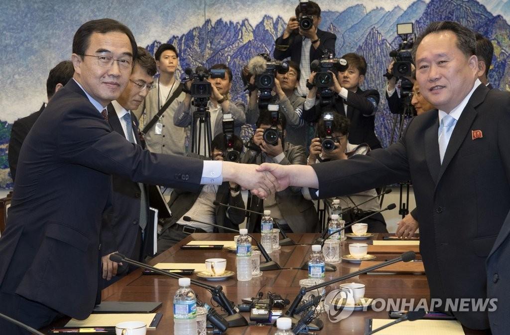 韩朝首席代表单独会晤就联合新闻稿协调立场