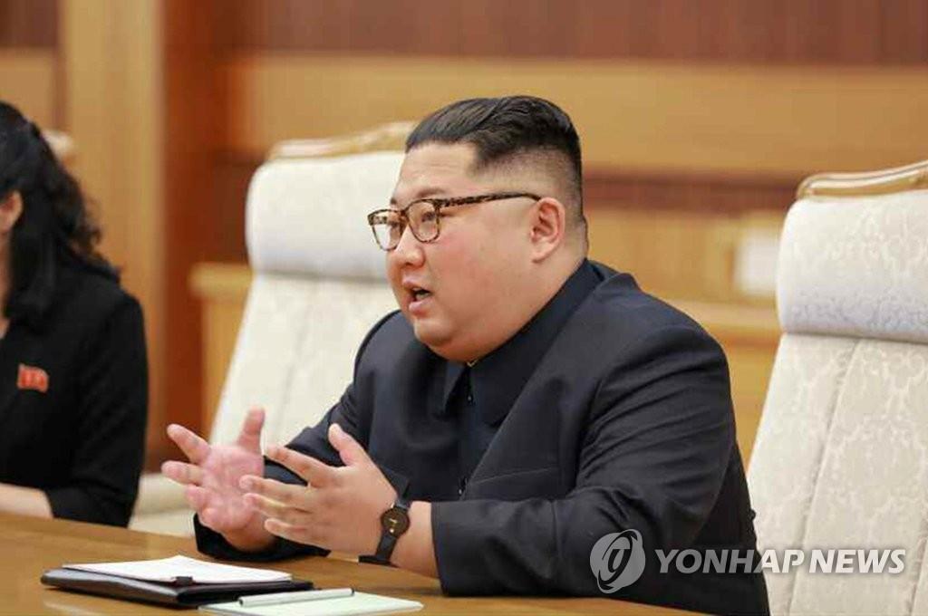 资料图片:朝鲜国务委员会委员长金正恩(韩联社)