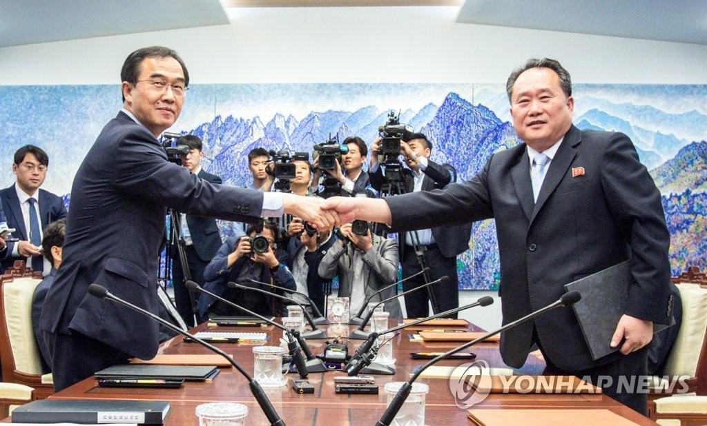 详讯:韩朝14日和22日分别举行军事和红十字会会谈