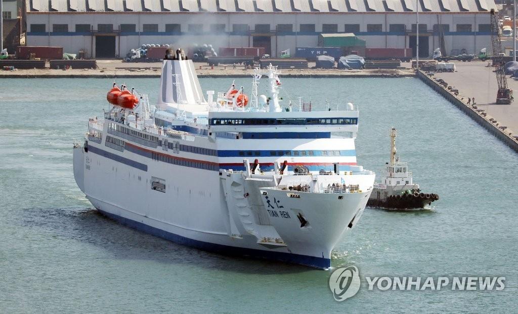 韩中轮渡航线客运量三个月连增