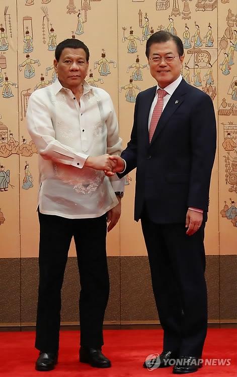 菲总统杜特尔特出席韩企业团体商务论坛
