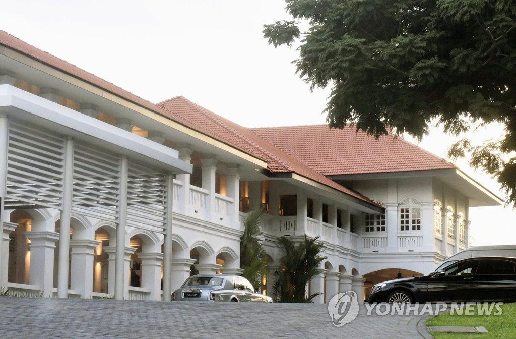 资料图片:新加坡圣淘沙岛嘉佩乐酒店,摄于2018年5月。(韩联社/美联社)