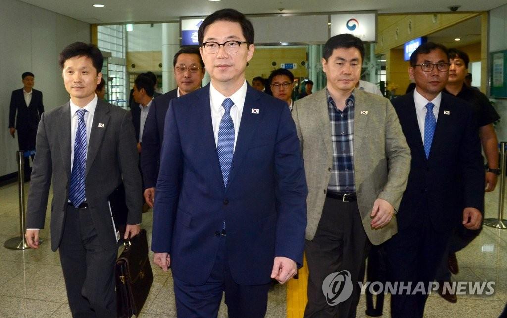 韩方考察团赴朝查看设施筹设联络事务所