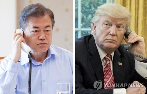简讯:金特会前夕韩美总统通电话谈无核化