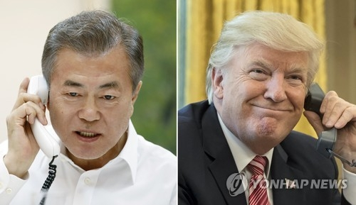 详讯:金特会前夕韩美总统通电话谈无核化
