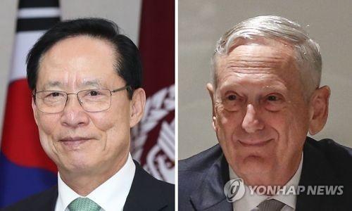 韩美防长下周在韩开会商讨暂停联演细节