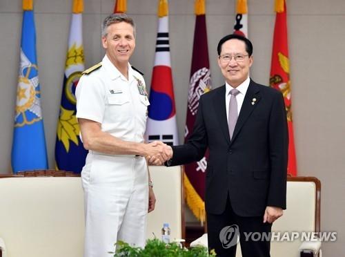 韩防长与美印太司令商定合作力推无核化