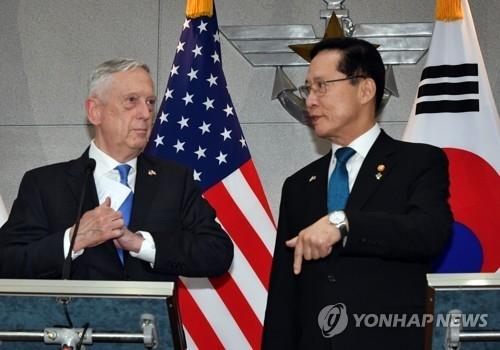 韩美防长商议停止军演移交战权