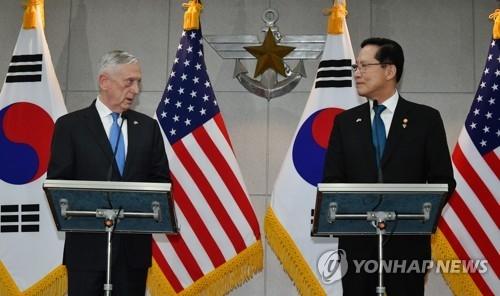 简讯:韩美防长商定为尽早移交战权加强合作