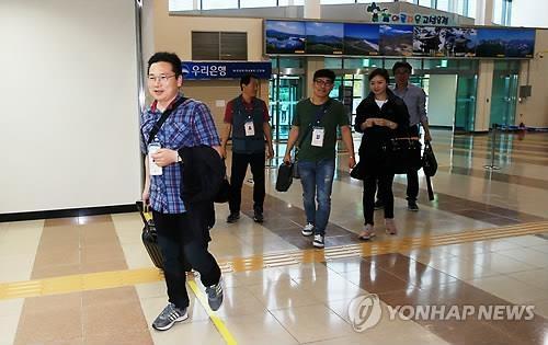 韩又一批技术人员赴朝维修离散家属会场设施